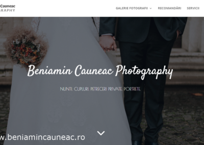 Beniamin Cauneac Photography (website creation)